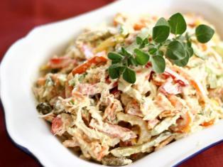 приготовление салата из ничего