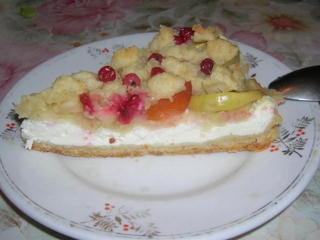 Простой пирог с творогом и яблоками рецепт 138